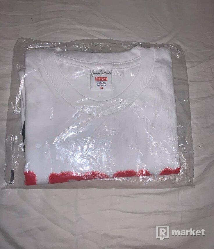 Supreme Yohji Yamamoto Logo Tee White