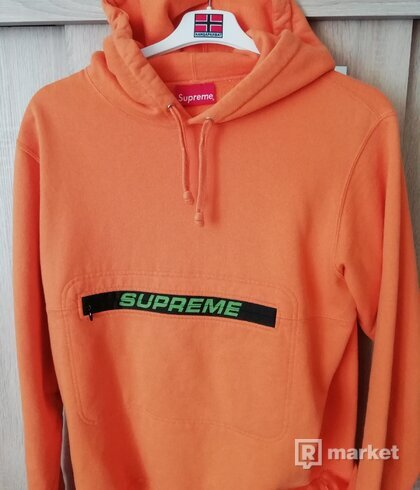 Supreme zip pouch hoodie M