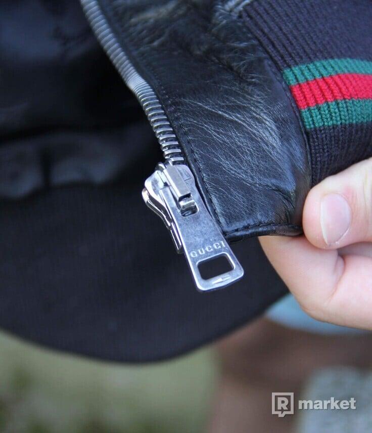 Gucci kožená leather bunda
