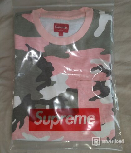 Supreme pocket tee pink camo Retail price