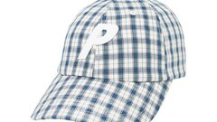Plaid P 6-panel white