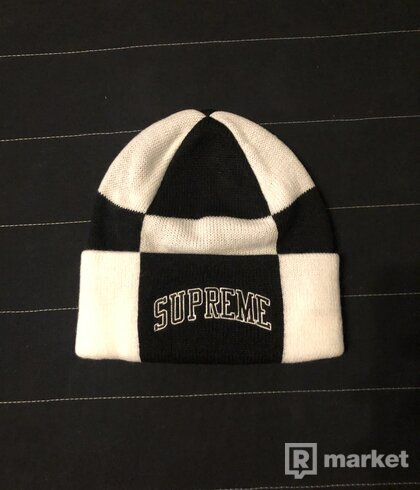 Supreme Checkerboard Beanie