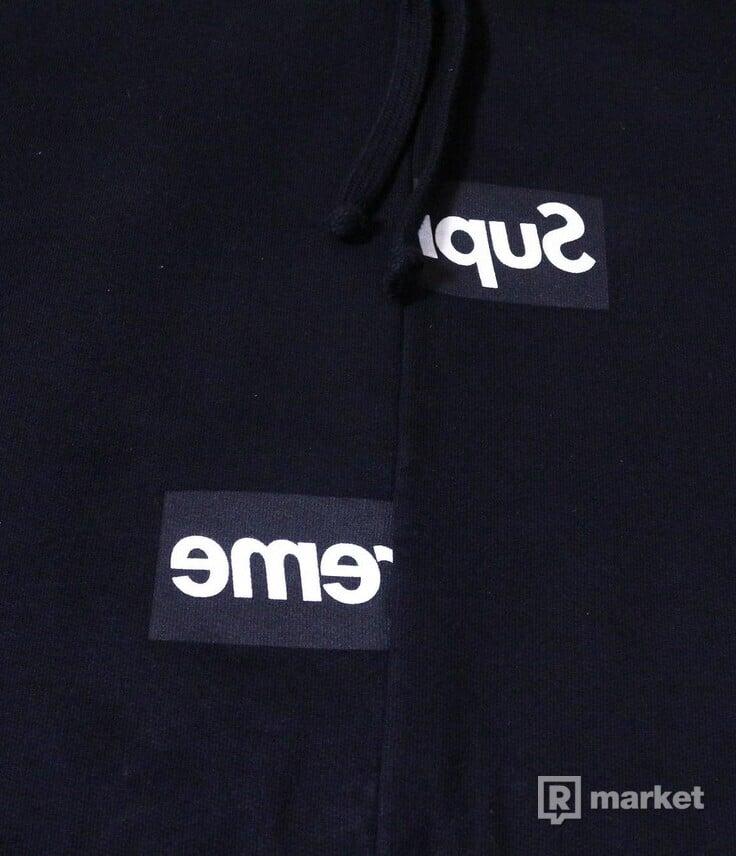 Supreme x Comme Des Garcons box logo hoodie