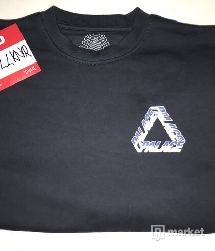 Palace Skateboards FW19 Split P3 Crewneck Navy 🟦