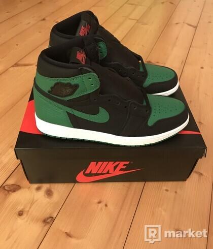Jordan 1 Pine green black