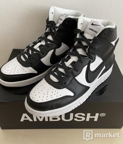Nike Dunk High Ambush Black White - US9