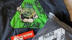 Palace Tri-Smiler Hoodie Navy