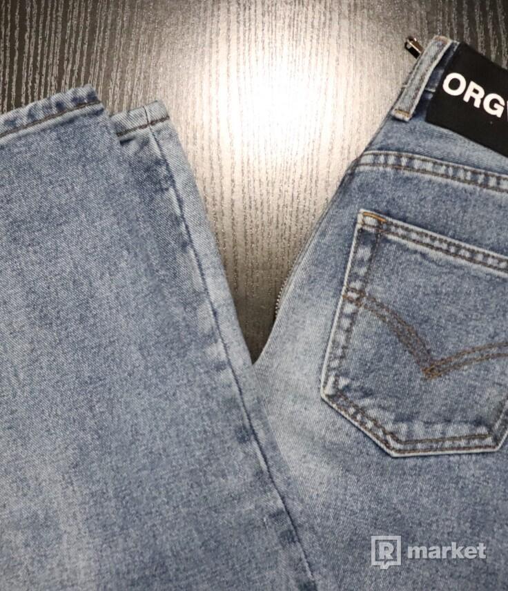 ORGVSM retro zip skinny jeans