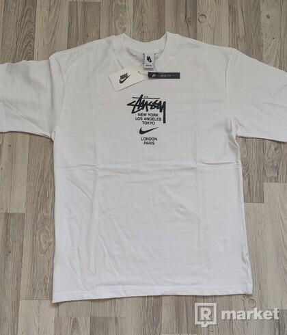 Stussy Nike Tricko Biele