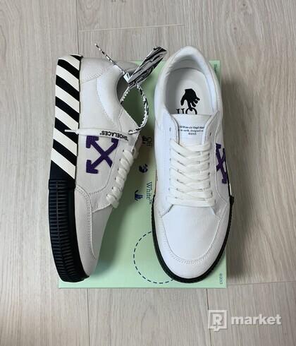 Off white vulcanized low white purple SS21