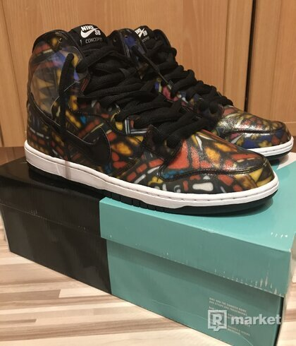 Nike Dunk SB High Cncpts  Stained Glass