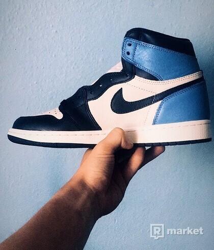 Nike Air Jordan 1 High OG Obsidian UNC