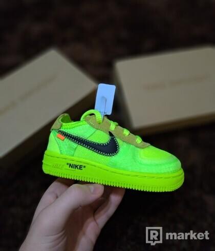 Nike Air Force 1 x Off-white Volt (TD)