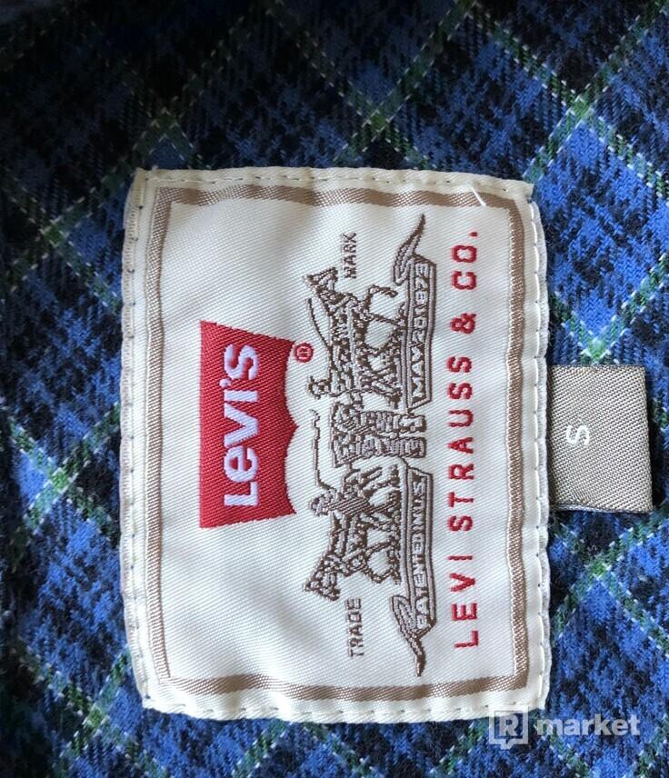 Levis zip up flannel