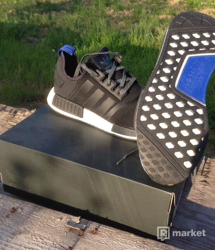 Adidas NMD BLACK/WHITE/BLUE