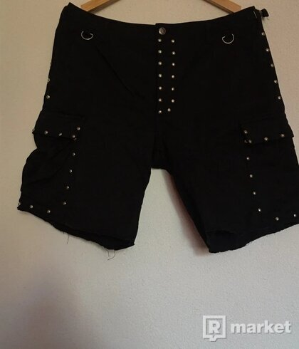 Saint Laurent Paris Studded Cargo Shorts S/S