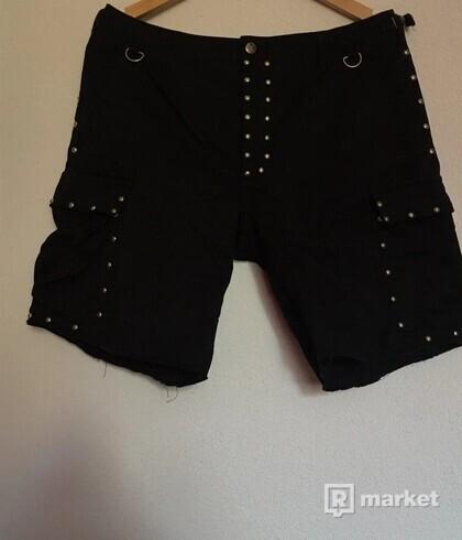 Saint Laurent Paris Studded Cargo Shorts S/S