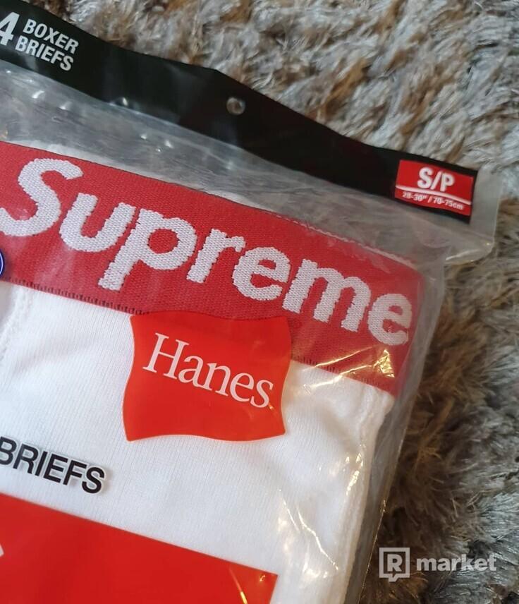 SUPREME HANES BOXER WHITE
