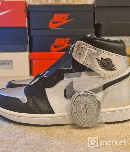 Air jordan 1 retro high silver toe