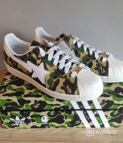 Adidas Superstar x Bape ABC Camo Green