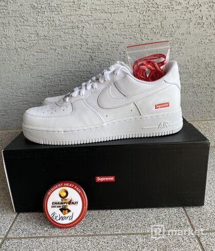 Nike Supreme air force 1 white US 10