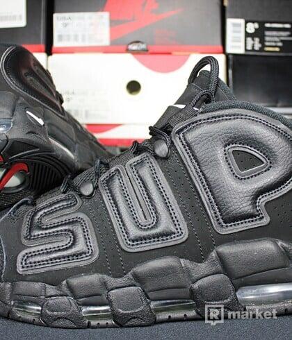 """Nike Air More Uptempo x Supreme """"Suptempo"""" Black"""
