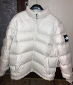 The North Face white nuptse jacket