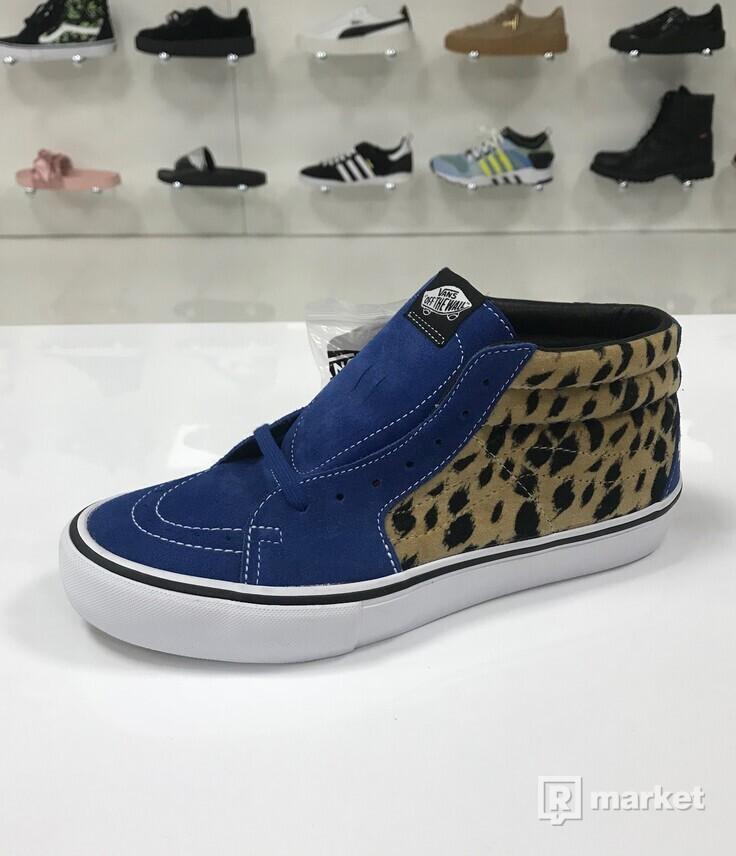 Supreme x Vans Sk8-Mid Leopard Blue