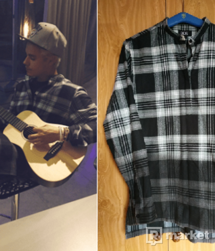 DOPE Waxed Flannel Tunic (veľ. M) Justin Bieber
