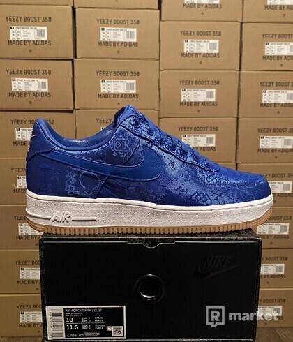 Nike Af1 x clot blue silk