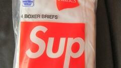 Supreme/Hanes Boxer Briefs - White