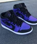 Nike Air Jordan 1 Mid Purple/ Black Dark Concord