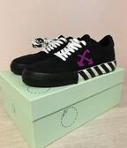 Off-white vulcanised low sneakers