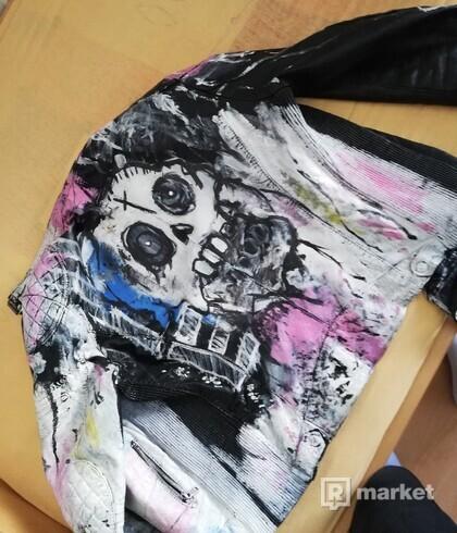 Custom Lil Peep Never Say Die Leather Jacket