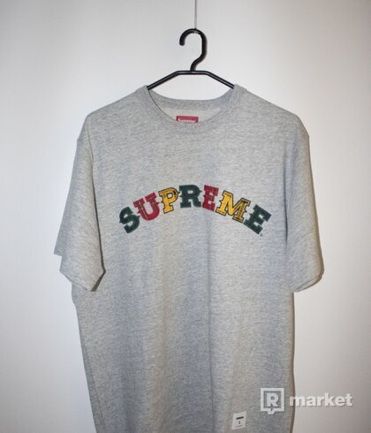 Supreme plaid applique tee