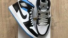 Jordan 1 Mid Royal Black White