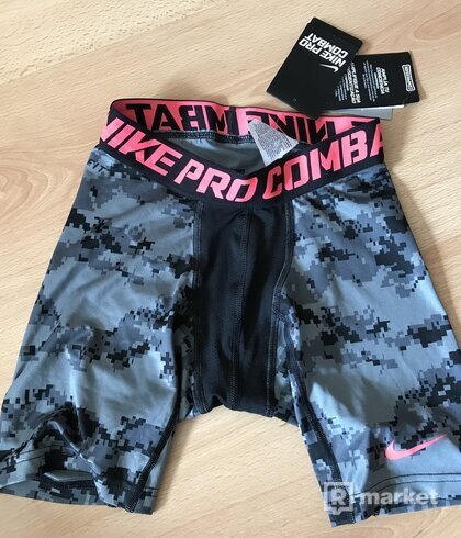 Nike Pro Combat kompresné šortky na šport, gym, Digi Camo sz. S