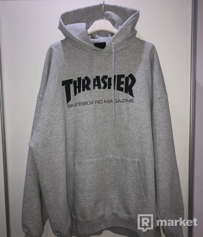 Thrasher skatemag hood gray