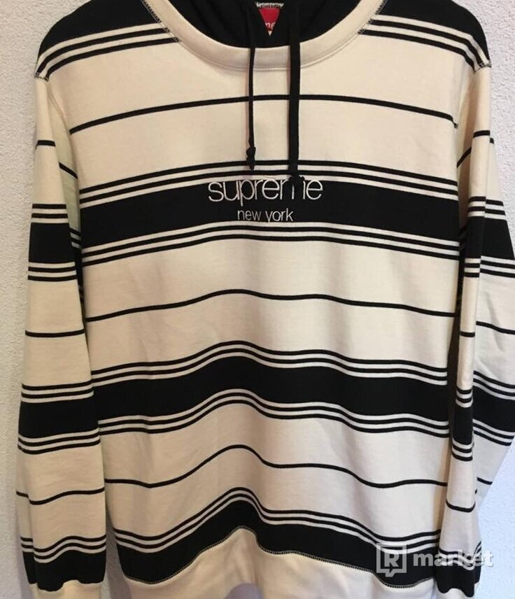 Supreme Striped Hooded Sweatshirt