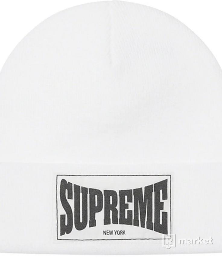 Supreme Woven Label Beanie White