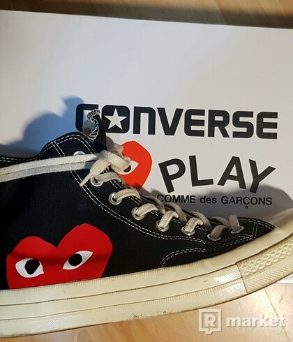 WTS/WTT Play Comme des Garçons x Converse Red Heart Chuck Taylor All Star '70 High (Black)
