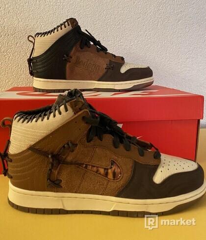 Nike Dunk High Bodega Legend Fauna Brown