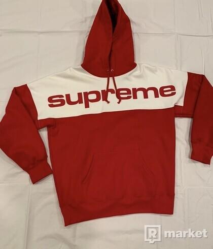 Supreme blocked hoodie