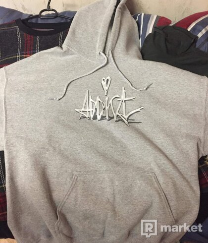 Addict grey hoodie