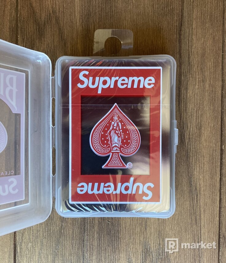 Supreme/Bicycle Clear Playing Cards