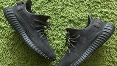 Yeezy 350 static black (non-reflective)