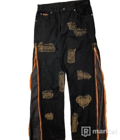 custom Wrangler black/orange