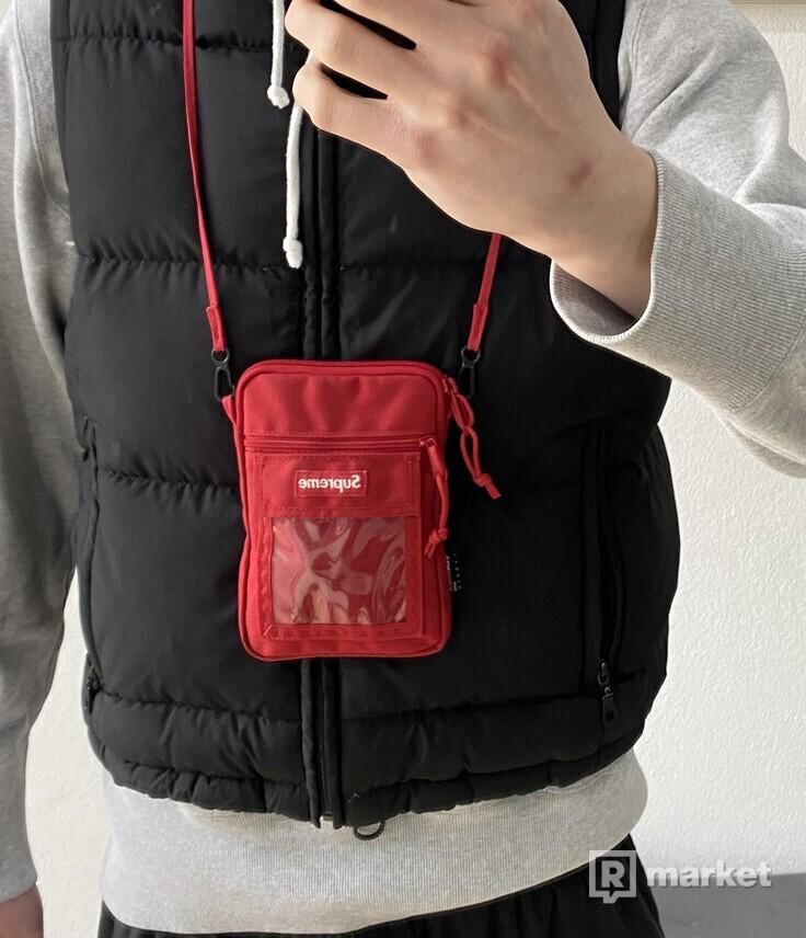 Supreme shoulder bag red