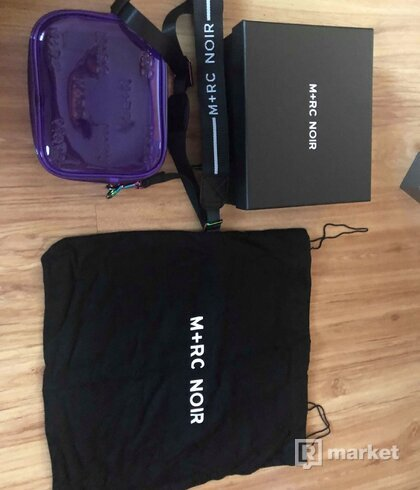 "M+RC NOIR ""HILLS"" EMBOSSED PURPLE TRANSPARENT PVC BAG"