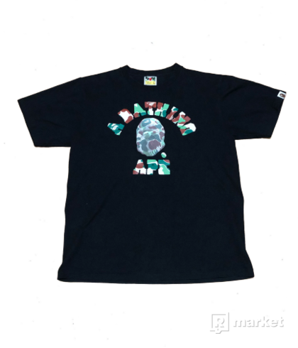 BAPE 3D GREEN CANO COLLAGE LOGO TEE